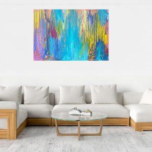 farebný obraz, pestrofarebný abstract, tyrkysový obraz