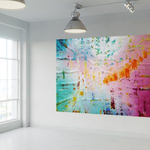 xxl colorful abstract, oversized modern art