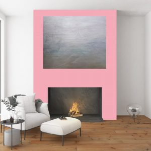 xl silver painting, abstrakt minimalism, large silver painting