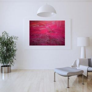 red abstract, purple abstract, love vibrations, wine painting