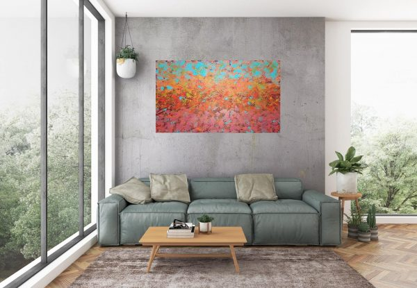 large autumnal painting, autumnal forest, autumnal trees
