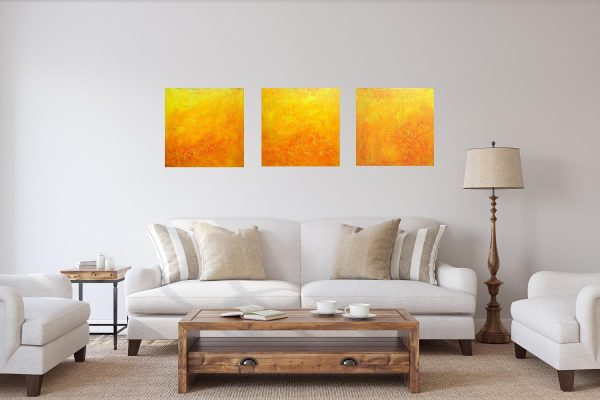 orange abstract, the sun, orange and yellow painting