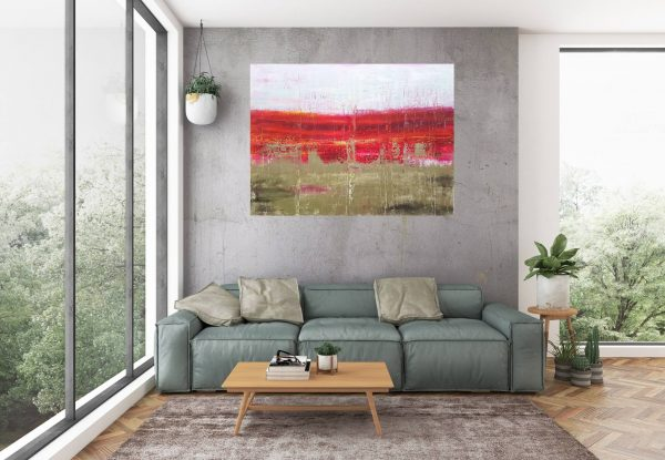 silver abstract, large landscape, tintin painting, ivana olbricht