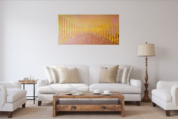 golden and copper abstract, golden painting, heaven painting, copper abstract painting