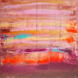 colorful abstract, abstract landscape, orange, pink, copper , golden