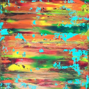 colorful abstract, autumnal abstract, original art