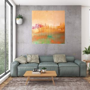 atumnal painting, atumnal landscape, golden art, copper, sunset painting