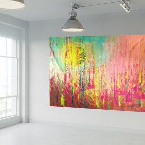 autumnal landscape, colorful absract, xxl abstract,oversize painting