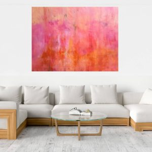 xxl abstract, pink painting, large landscape, ivana olbricht