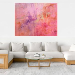 xxl painting, xxl abstrract, pink abstract