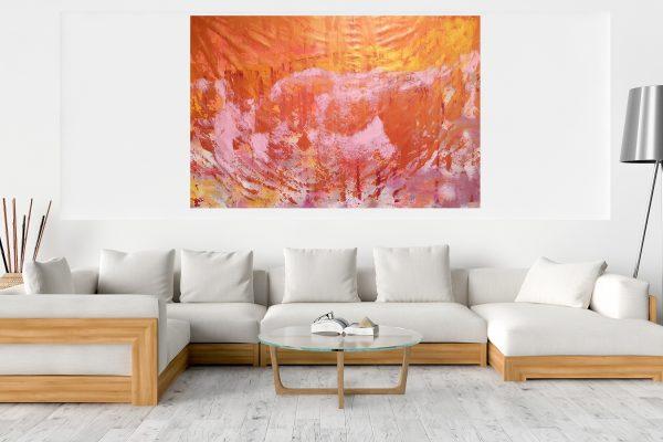 golden painting, xxl abstract, ivana olbricht