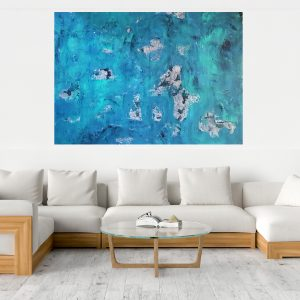 modry obrazy, ocean, xxl abstract painting, blue abstract