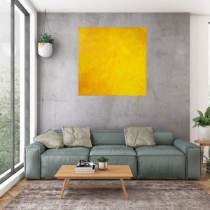 yellow painting, large yellow art, orange abstract, the sun painting