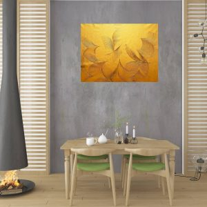golden painting, black and gold art