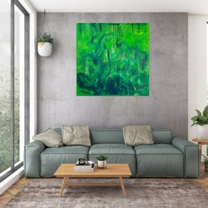 green painting, zeleny obraz, rain forest