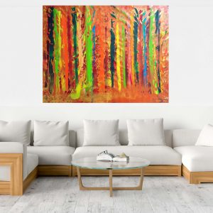 autumnal landscape, xxl abstract, oversized abstract, colorful abstract, autumnal forest