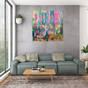 colorful abstract, absract flowers, spring landscape