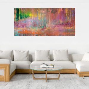 xxl painting, abstract landcape, xxl obraz, moderny abstraktny obraz, autumnal painting