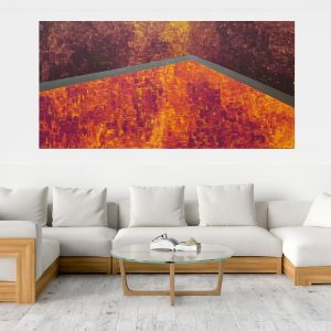 fire, ember, xxl abstract, diptych abstract , modern painting