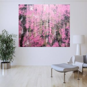silver and pink painting, pink abstract, ruzovy obraz,