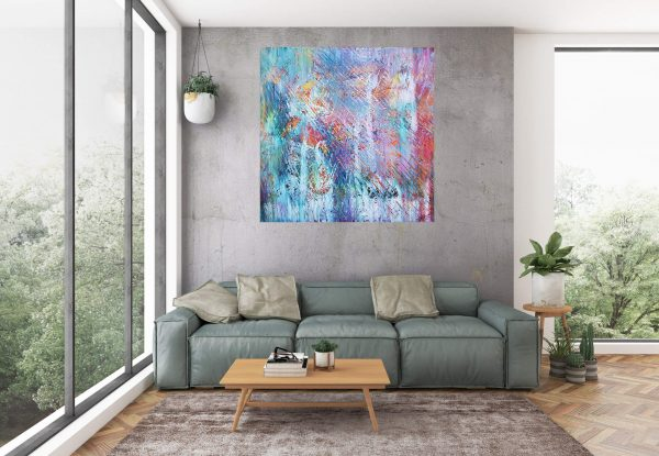 modern painting, colorful abstract, large abstract art