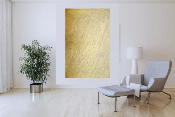 xl painting, golden painting, black and gold painting, minimalistic artwrork