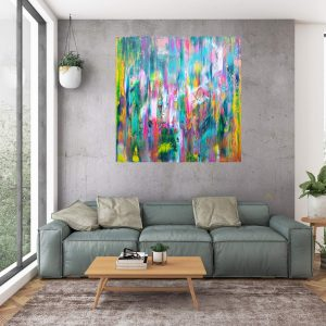 colorful abstract, ivana olbricht, spring landscape abstract flowers