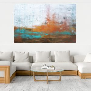 abstract landscape, winter landscape, xxl painting