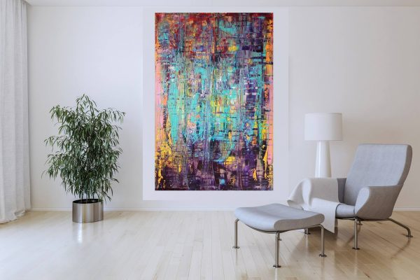 colorful painting, xxl paiting, modern abstract