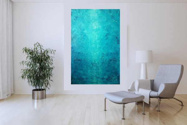 blue abstract, minimalistic artwork