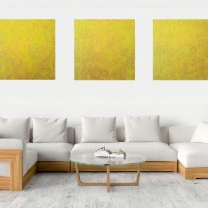 trojdielny obray, hviezdy, žltý obraz, oranžový obraz