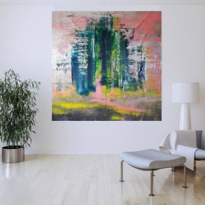 large abstract painting, iceland, statement artwrork
