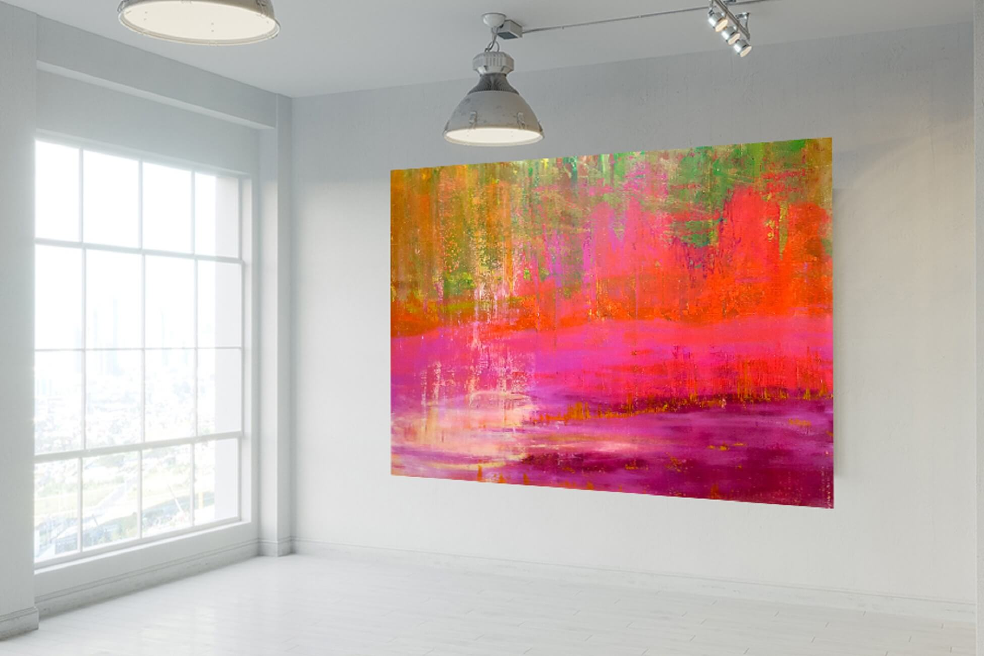 xxl painting, xxl abstract landscape