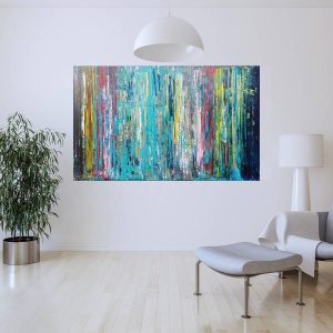 large abstract, colorful abstract painting, original art, luxury art
