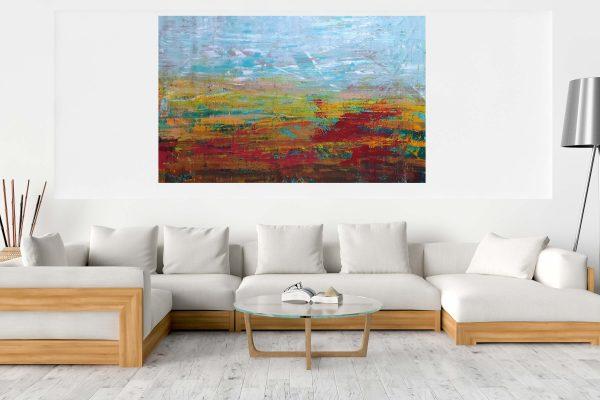 xxl abstract, velky obraz, abstract landscape, autumnal landscape
