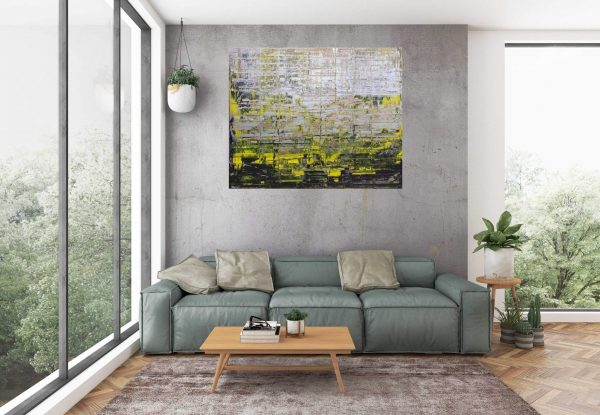 abstract landscape, autumnal landscape, silver painting