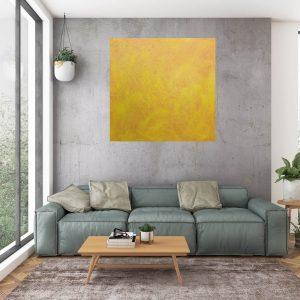 yello painting, orange painting, the sun, minimalistic art